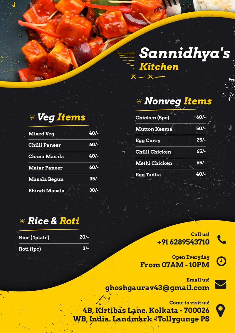 Sannidhya's Kitchen